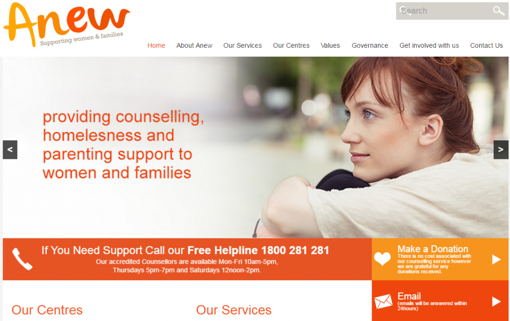 Anew-charities-website