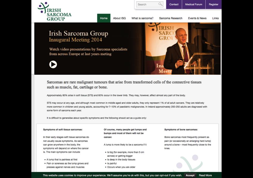 Sarcoma Group-website-marketing-charities